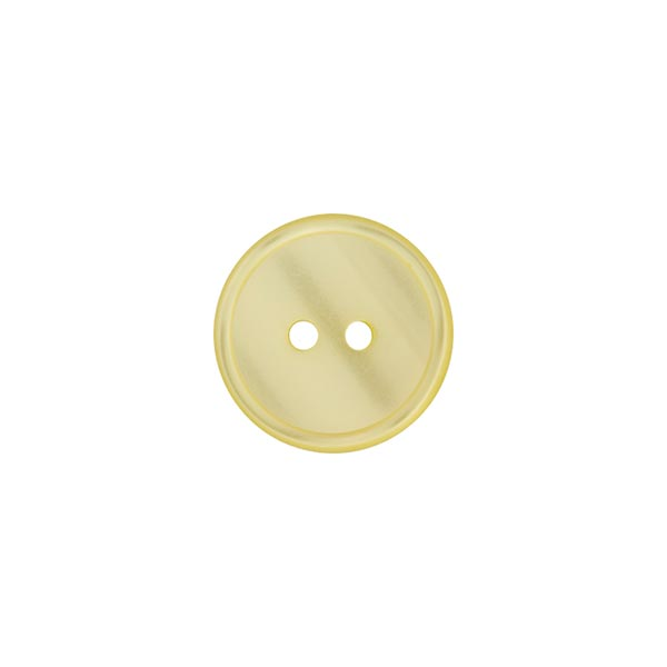 Bouton polyester 2 trous  – jaune clair
