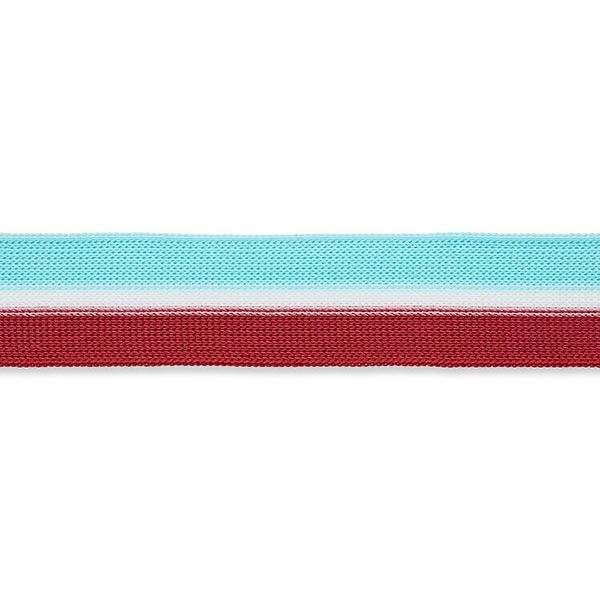 Tresse  [25mm] – turquoise/rouge