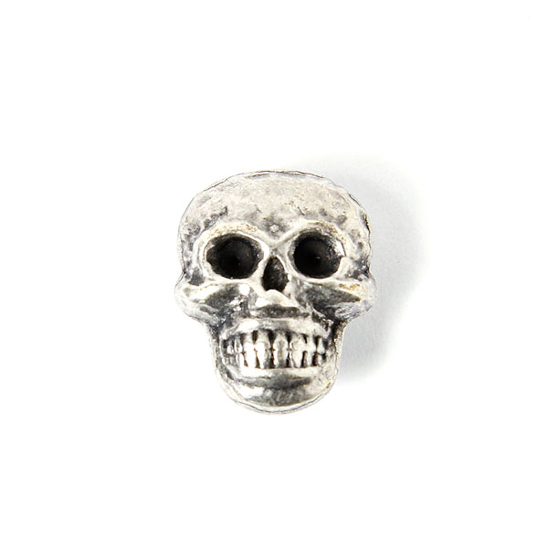 Bouton en métal tête de mort 1