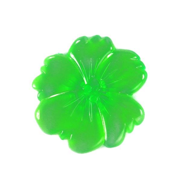 Bouton en plastique, Neon Flower 1