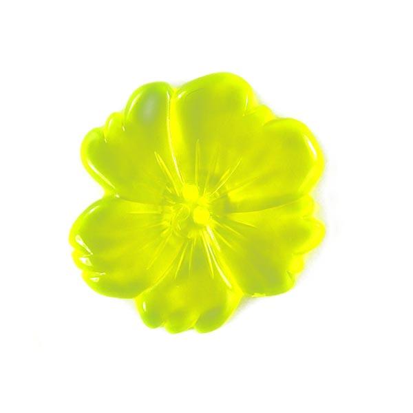 Bouton en plastique, Neon Flower 2