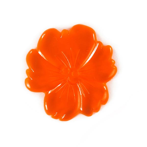Bouton en plastique, Neon Flower 3