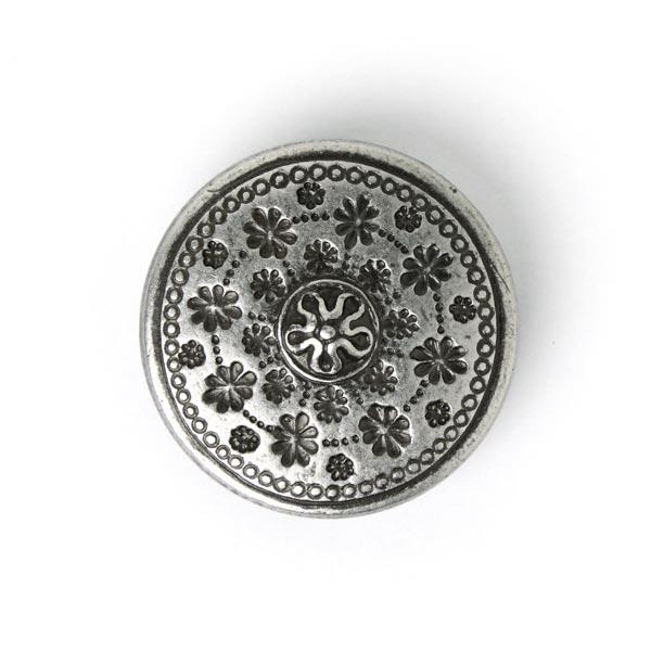 Bouton en métal fleur rustique 1