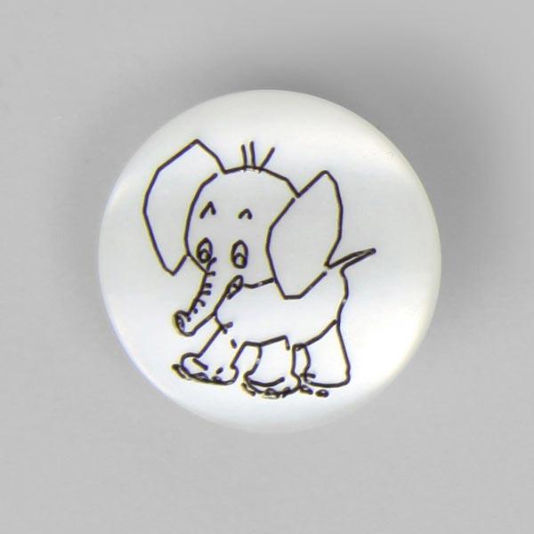 Bouton en plastique, Brilliant Elefant 12