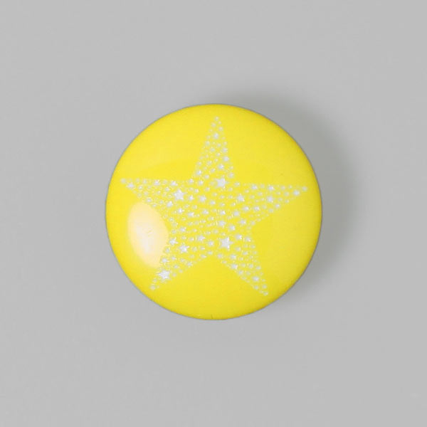 Bouton en plastique Sparkling Stars 3