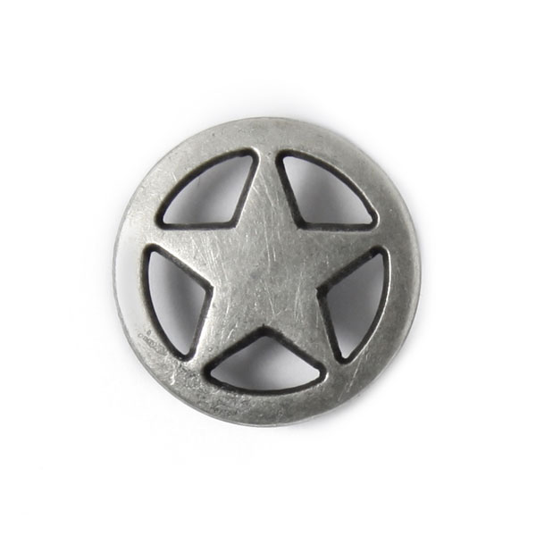 Bouton en métal étoile 1