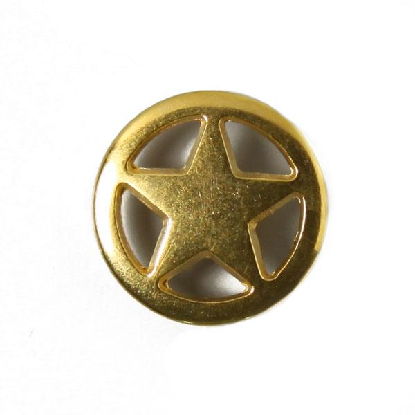 Bouton en métal étoile 2