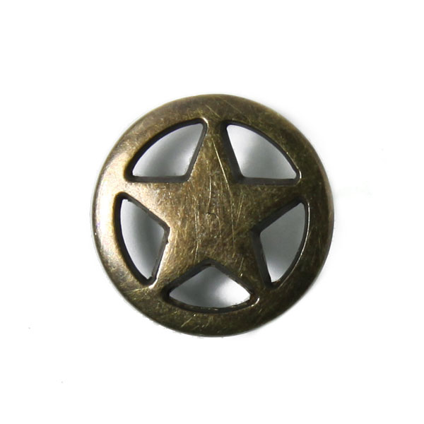 Bouton en métal étoile 3
