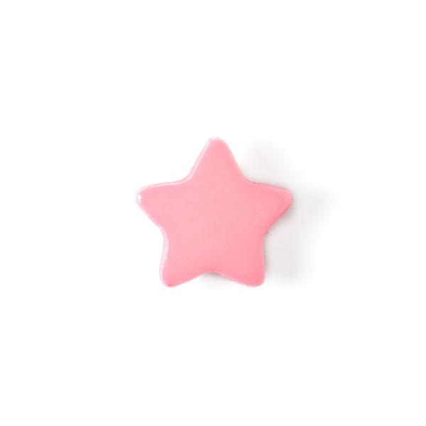 Bouton en plastique petites étoiles 5