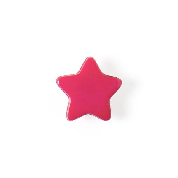 Bouton en plastique petites étoiles 7