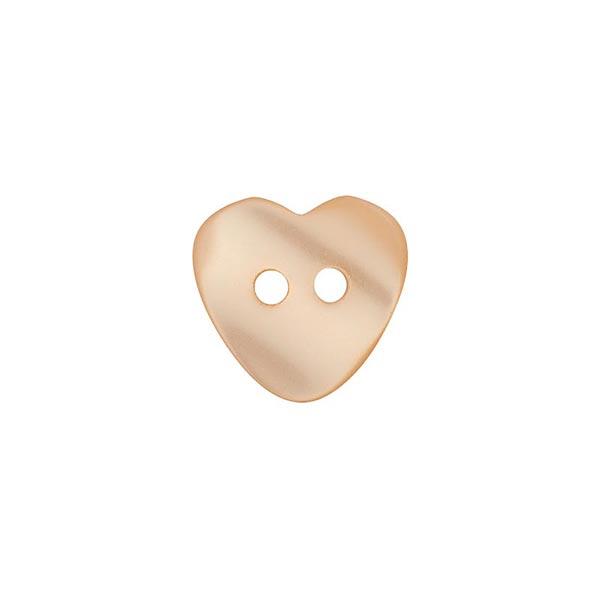 Bouton polyester 2 trous cœur [ 12 mm ] – beige