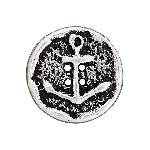 Bouton en métal Ancre