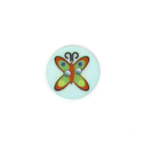 Bouton en plastique papillon 3