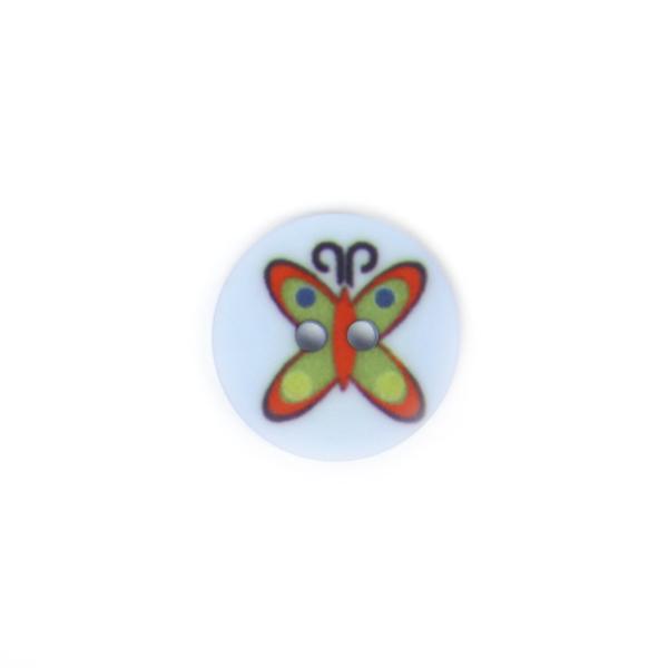 Bouton en plastique papillon 8