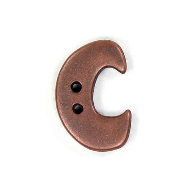 Bouton lettre Metallic – C (087)