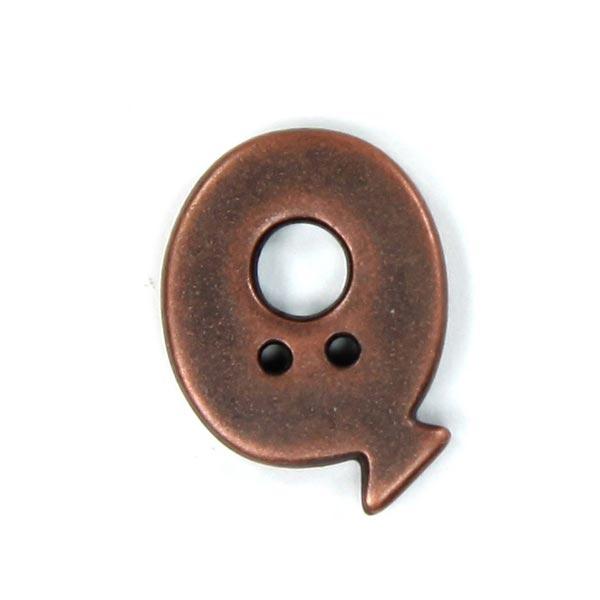 Bouton lettre Metallic – Q (087)