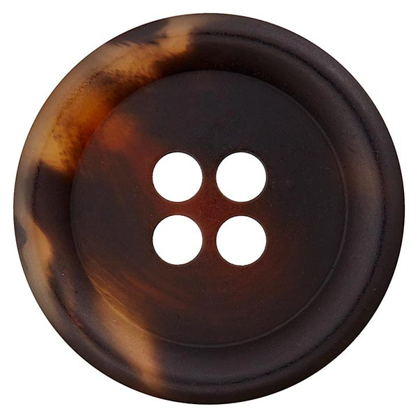 Bouton polyester 4 trous – marron foncé