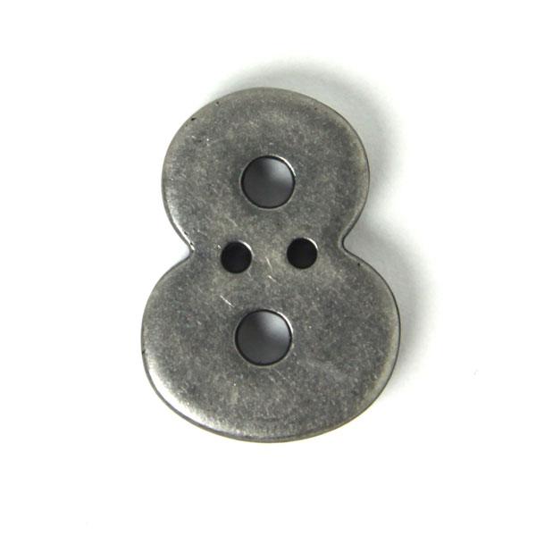 Nombre 8 aspect métal