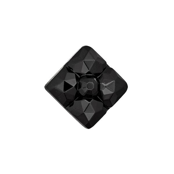 Bouton à queue en verre – noir