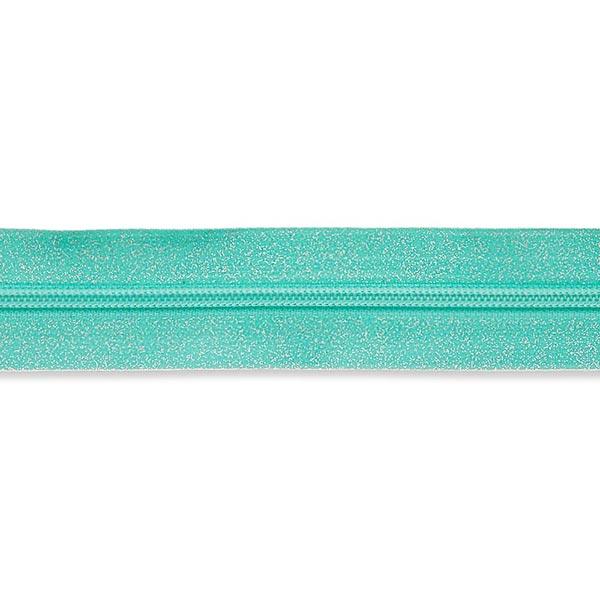 Endlosreißverschluss – türkisblau/silber