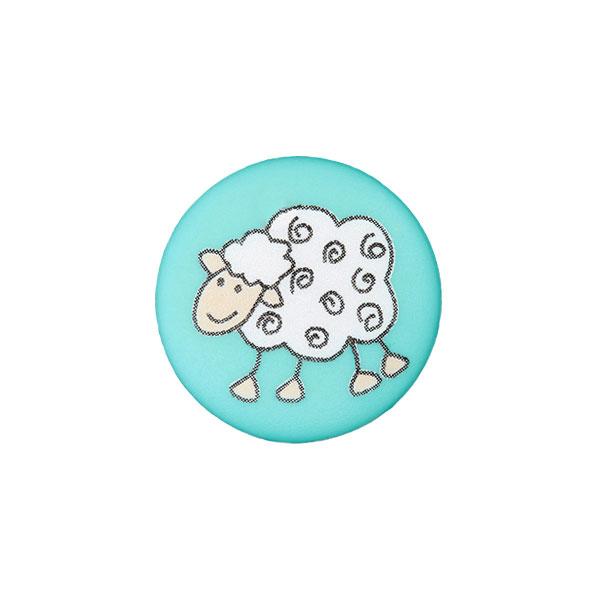 Bouton à queue Mouton turquoise