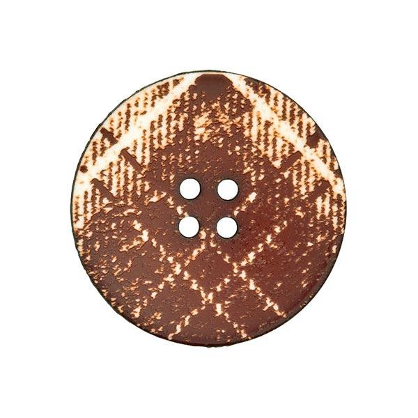 Bouton de manteau Écossais – marron