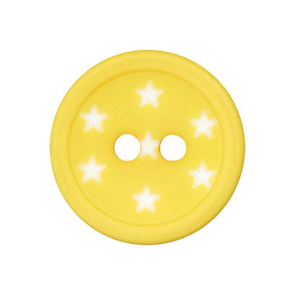 Bouton plastique Étoiles – jaune