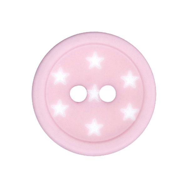 Bouton plastique Étoiles – rose