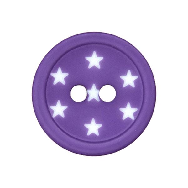 Bouton plastique Étoiles – lilas