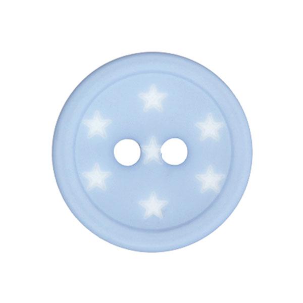 Bouton plastique Étoiles – bleu clair