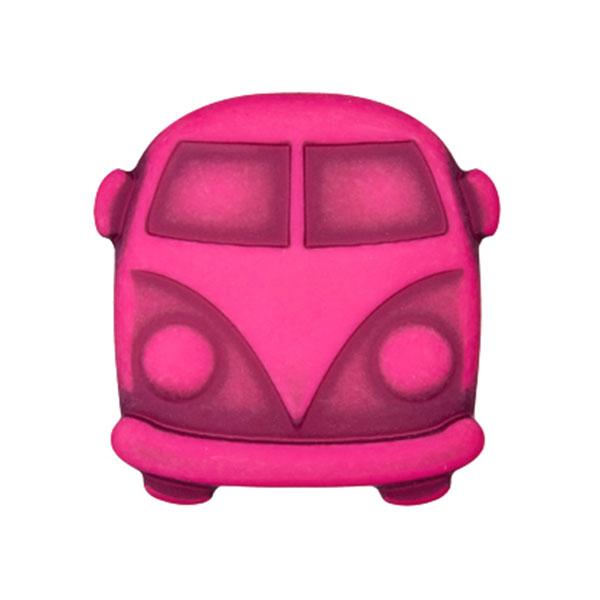 Bouton plastique Bulli Sina – rose vif