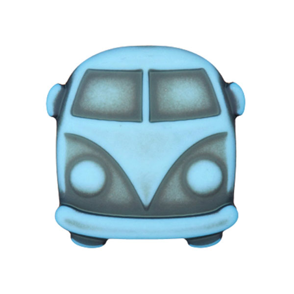 Bouton plastique Bulli Sina – bleu clair
