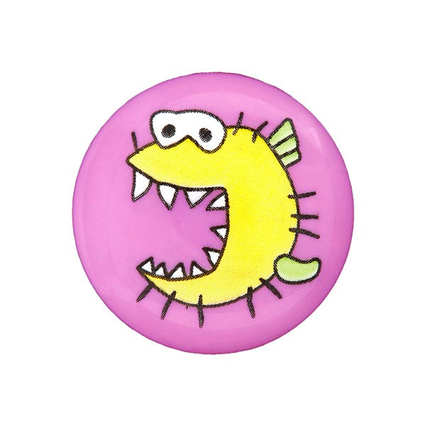Bouton plastique Monstre – violet