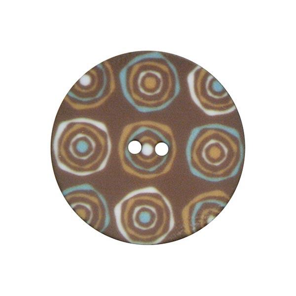 Bouton polyester Rétro 1 – marron