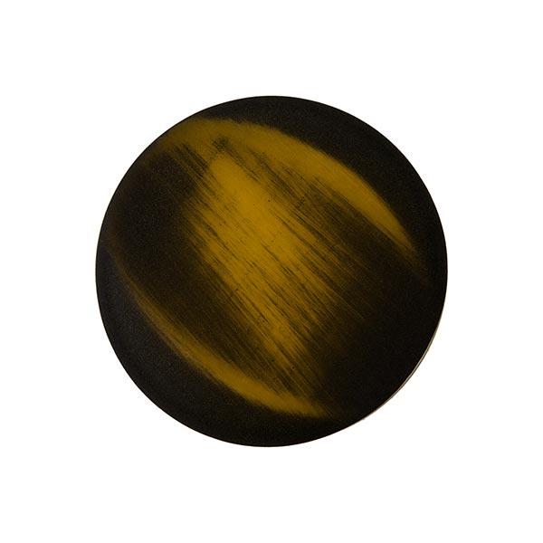 Bouton polyester - FAUX VELOURS - brun doré