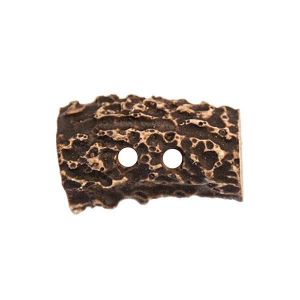 Bouton polyester Écorce 2 – marron