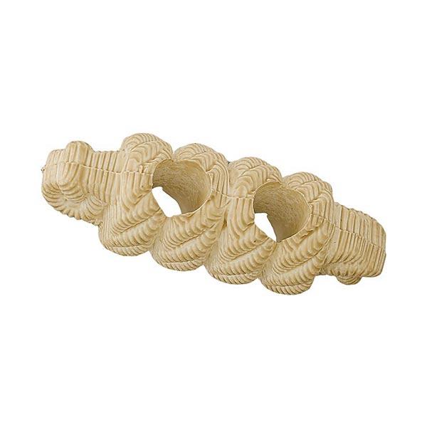 Bouton allongé Fausse corde - naturel