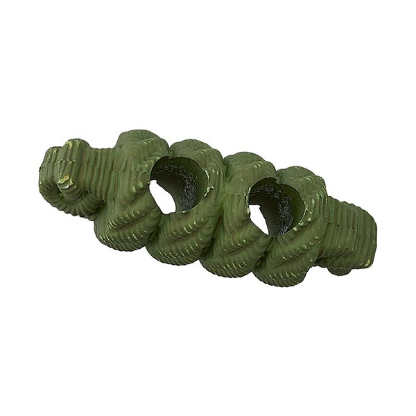 Bouton allongé Fausse corde - vert olive
