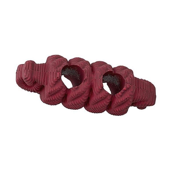 Bouton allongé Fausse corde - rouge bordeaux
