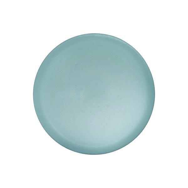 Bouton polyester Pastel d'hiver - bleu aqua