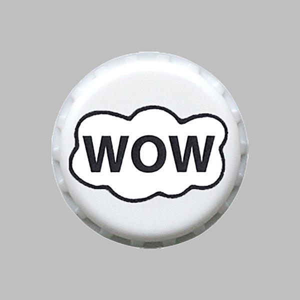 Bouton polyester WOW 1 – blanc