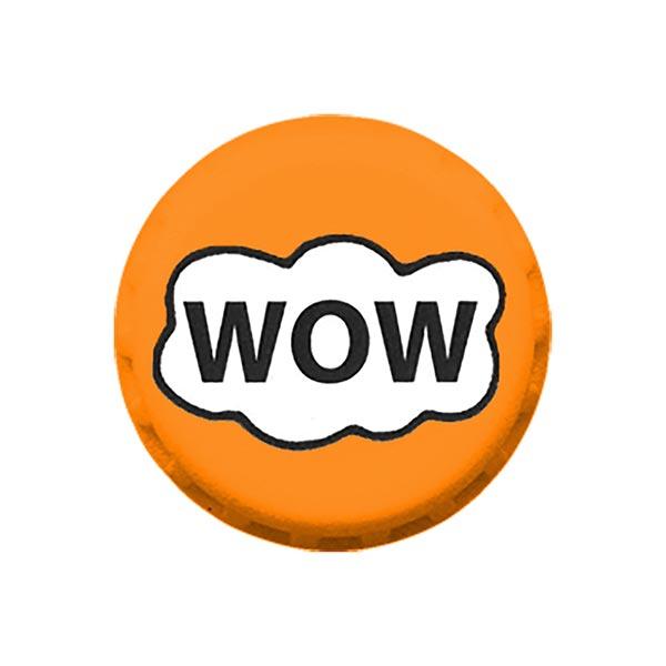 Bouton polyester WOW 3 – orange