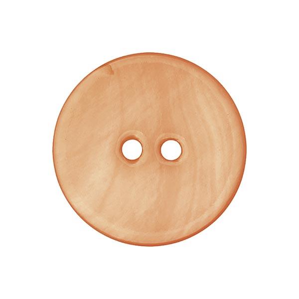 Bouton nacré pastel - abricot