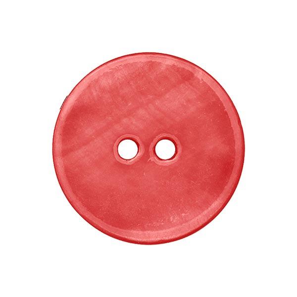 Bouton nacré pastel - rouge