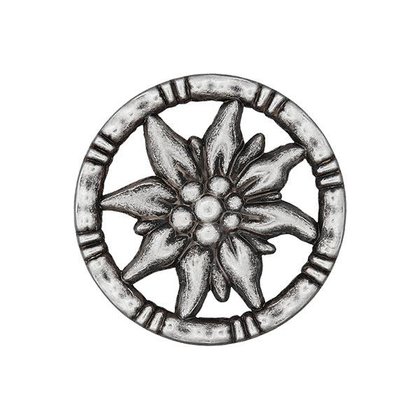 Bouton folklorique Ipheion - argent vieilli