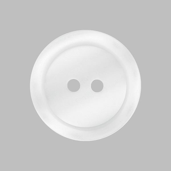 Bouton plastique 2 trous Basic - blanc