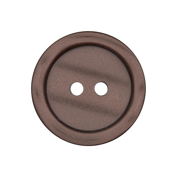 Bouton plastique 2 trous Basic - marron