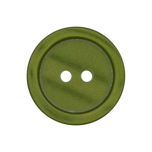 Bouton plastique 2 trous Basic - olive