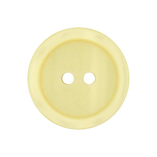 Bouton plastique 2 trous Basic - jaune clair