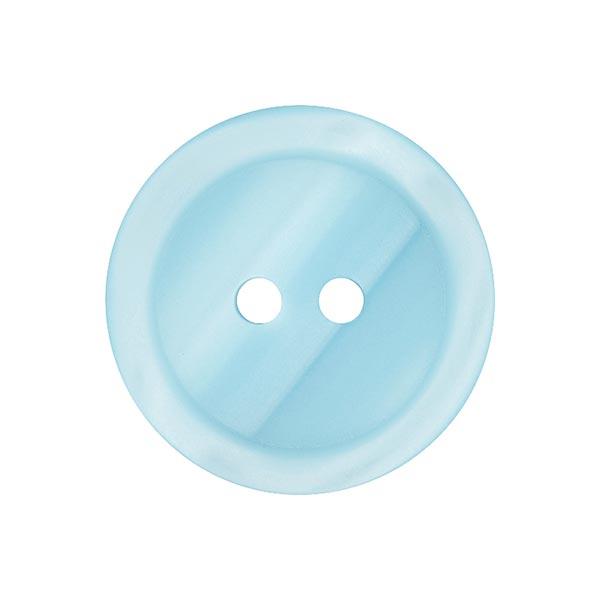 Bouton plastique 2 trous Basic - bleu clair